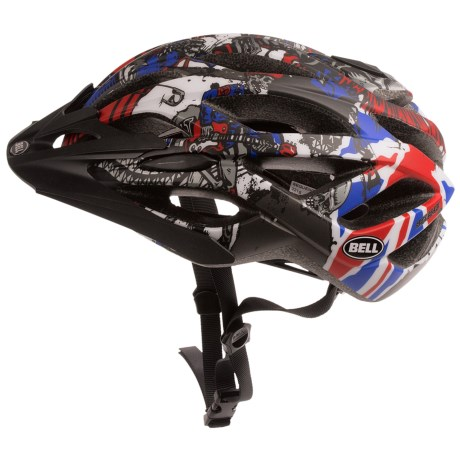 Bell Sequence Bike Helmet in Matte Red/Blue Jimbo