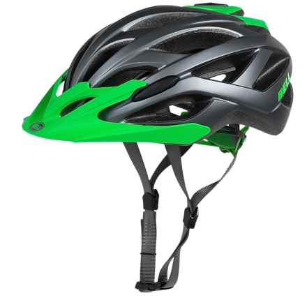 Bell Sequence Cycling Helmet (For Men and Women) in Matte Dark Titanium/Kryptonite Ace - Closeouts