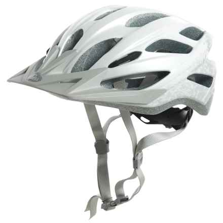 Bell Slant Bike Helmet (For Men and Women) in Matte White/Silver Braille - Closeouts