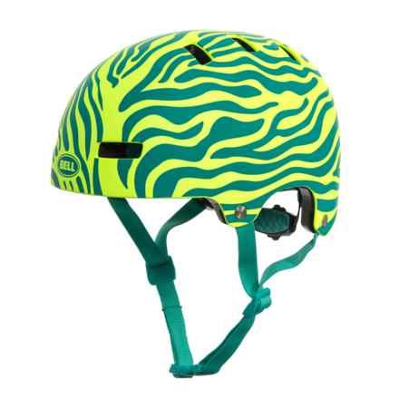 Bell Span Helmets (For Kids) in Matte Emerald/Retina Sear Zebra - Closeouts