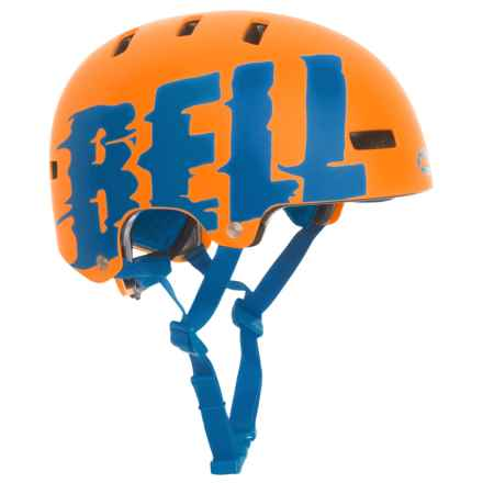 Bell Span Helmets (For Kids) in Matte Orange/Force Blue Luquid - Closeouts