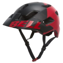 Bell Stoker Mountain Bike Helmet (For Men and Women) in Matte Black/Red Aggression - Closeouts