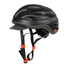Bell Strut Soft Brim Bike Helmet (For Women) in Matte Black/Infrared - Closeouts
