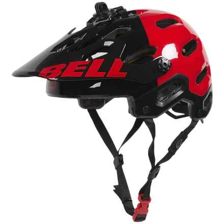 Bell Super 2 MIPS-Equipped Mountain Bike Helmet (For Men and Women) in Black/Red Aggression - Closeouts