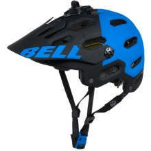 Bell Super 2 MIPS-Equipped Mountain Bike Helmet (For Men and Women) in Matte Black/Blue Aggression - Closeouts