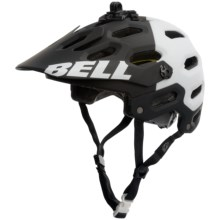 Bell Super 2 MIPS-Equipped Mountain Bike Helmet (For Men and Women) in Matte Black/White Aggression - Closeouts