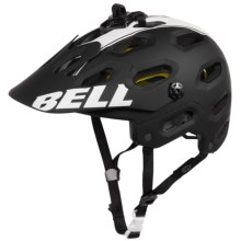 Bell Super 2 MIPS-Equipped Mountain Bike Helmet (For Men and Women) in Matte Black/White Viper - Closeouts