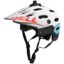 Bell Super 2 MIPS-Equipped Mountain Bike Helmet (For Men and Women) in Matte White/Glacier Blue Sonic - Closeouts