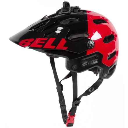Bell Super 2 Mountain Bike Helmet (For Men and Women) in Black/Red Aggression - Closeouts