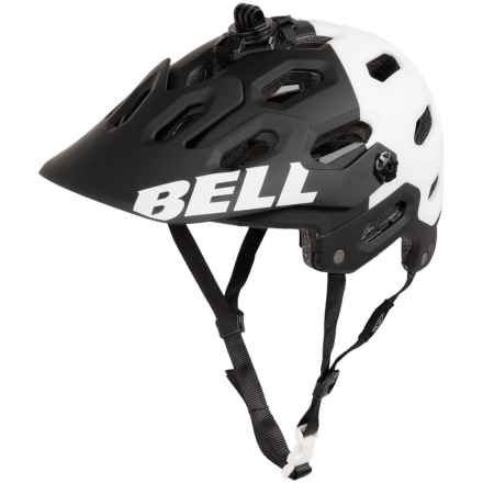 Bell Super 2 Mountain Bike Helmet (For Men and Women) in Matte Black/White Aggression - Closeouts