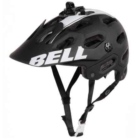 Bell Super 2 Mountain Bike Helmet (For Men and Women) in Matte Black/White Viper - Closeouts