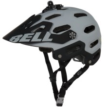 Bell Super 2 Mountain Bike Helmet (For Men and Women) in Matte Grey/Blue - Closeouts