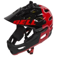 Bell Super 2R MIPS Mountain Bike Helmet (For Men and Women) in Black/Red Aggression - Closeouts
