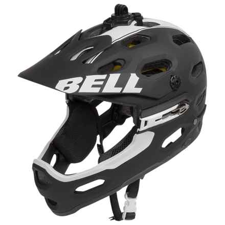 Bell Super 2R MIPS Mountain Bike Helmet (For Men and Women) in Matte Black/White Viper - Closeouts