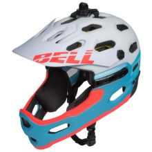 Bell Super 2R MIPS Mountain Bike Helmet (For Women) in Matte White/Glacier Blue Sonic - Closeouts