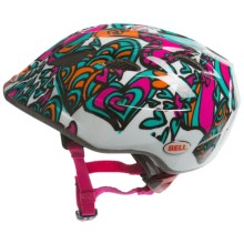 Bell Tater Bike Helmet (For Kids and Youth) in Teal/Magenta Hearts - Closeouts