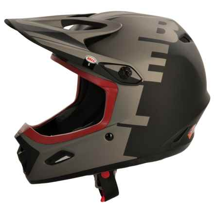 Bell Transfer-9 Full Face Mountain Bike Helmet (For Men and Women) in Matte Black/Grey Yin Yang - Closeouts