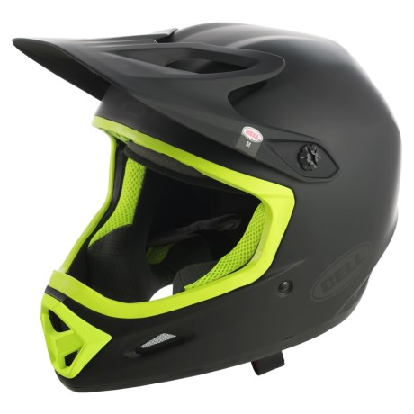 Bell Transfer-9 Full Face Mountain Bike Helmet (For Men and Women) in Matte Black/Retina Sear