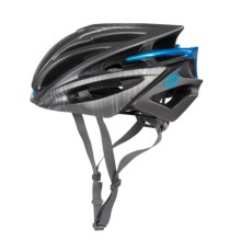 Bell Volt RL Road Bike Helmet (For Men and Women) in Matte Titanium/Blue Splash - Closeouts