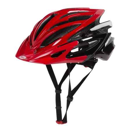 Bell Volt RLX Road Bike Helmet (For Men and Women) in Red/Black Blur - Closeouts