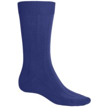 b.ella 13x3 Rib Socks - Cotton-Cashmere (For Men) in Blue Denim - Closeouts