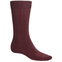 b.ella 13x3 Rib Socks - Cotton-Cashmere (For Men) in Burgundy - Closeouts