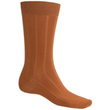 b.ella 13x3 Rib Socks - Cotton-Cashmere (For Men) in Pumpkin - Closeouts