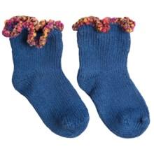 b.ella Adagio Bootie Socks - Pompom Cuff (For Infants) in Royal - Closeouts