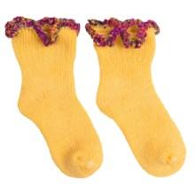 b.ella Adagio Bootie Socks - Pompom Cuff (For Infants) in Sunshine - Closeouts