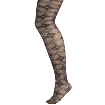 b.ella Alessandra Argyle Tights (For Women) in Espresso