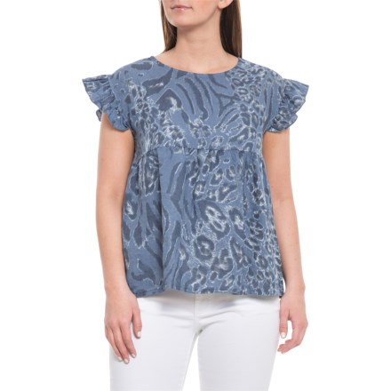 5d25e1959a0d Bella Ambra Made in Italy Denim Leo Boxy Linen Blouse - Sleeveless (For  Women)