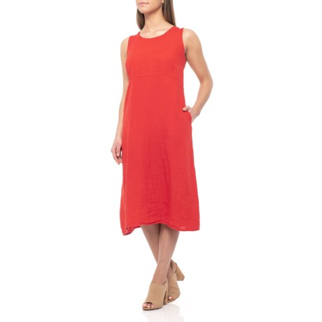 2a81f7485a Bella Ambra Made in Italy Red Tie-Back Midi Dress (For Women) - Save 30%