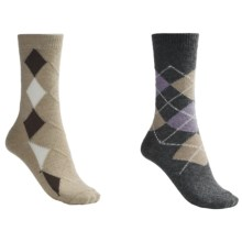 b.ella Argyle and Diamond Socks - 2-Pack (For Women) in Grey/Tan - Closeouts