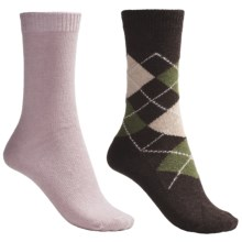 b.ella Argyle and Solid Socks - 2-Pack (For Women) in Cocoa/Pink - Closeouts