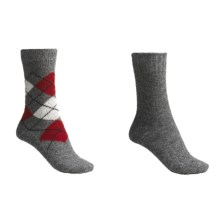 b.ella Argyle-Solid Socks - Wool-Cashmere Blend, 2-Pack (For Women) in Grey/Grey - Closeouts