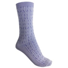 b.ella Cameron Crew Socks - Twisted Rib (For Women) in Denim - Closeouts