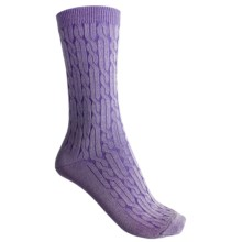 b.ella Cameron Crew Socks - Twisted Rib (For Women) in Purple - Closeouts