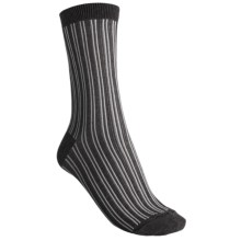 b.ella Candie Pinstripe Crew Socks (For Women) in Caviar - Closeouts