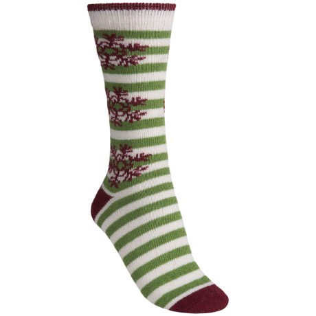 b.ella Cecilia Snowflake Crew Socks (For Women) in Ivory