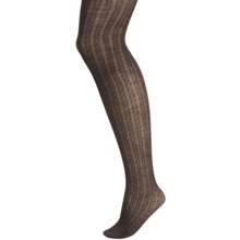 b.ella Cialia Cable-Knit Tights - Merino Wool (For Women) in Espresso - Closeouts
