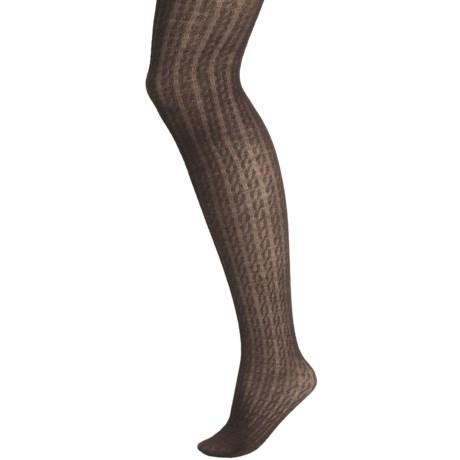b.ella Cialia Cable-Knit Tights - Merino Wool (For Women) in Espresso