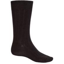 b.ella Classic Ribbed Socks - Merino Wool, Crew (For Men) in Black - Closeouts