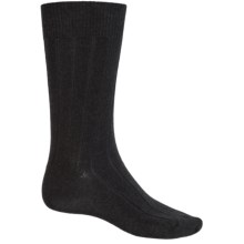 b.ella Classic Ribbed Socks - Merino Wool, Crew (For Men) in Charcoal - Closeouts