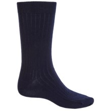 b.ella Classic Ribbed Socks - Merino Wool, Crew (For Men) in Navy - Closeouts