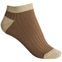 b.ella Cora Rib Contrast No-Show Socks - Below-the-Ankle (For Women) in Cocoa - Closeouts