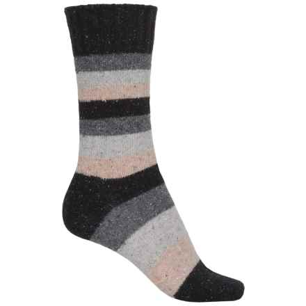 b.ella Cyndi Socks - Merino Wool, Crew (For Women) in Caviar - Closeouts