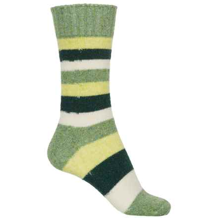 b.ella Cyndi Socks - Merino Wool, Crew (For Women) in Green - Closeouts