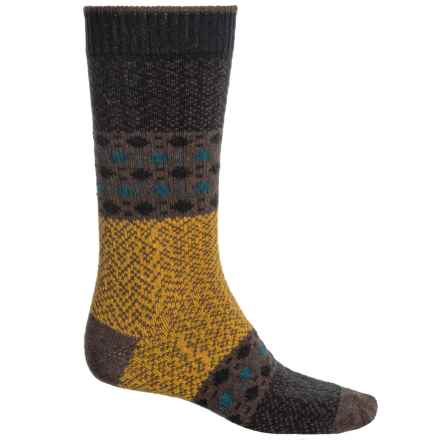 b.ella Dashing Dots Socks - Recycled Cotton, Crew (For Men) in Brown - Closeouts