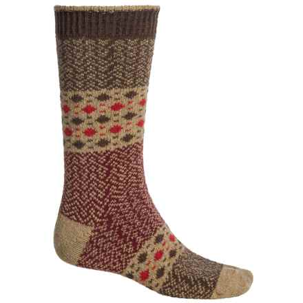 b.ella Dashing Dots Socks - Recycled Cotton, Crew (For Men) in Khaki - Closeouts