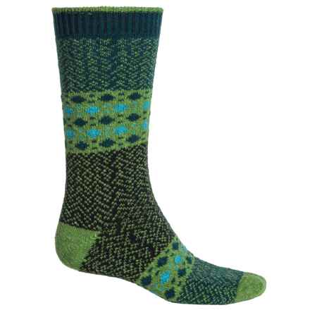 b.ella Dashing Dots Socks - Recycled Cotton, Crew (For Men) in Teal - Closeouts
